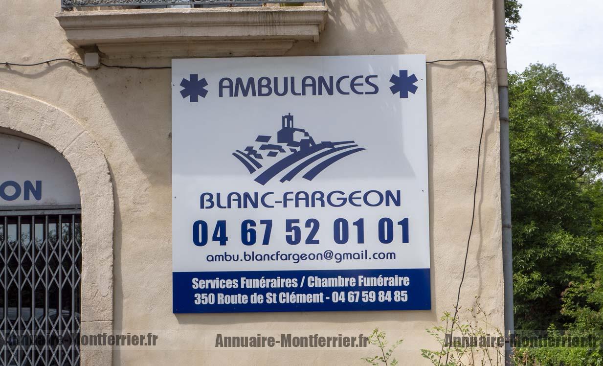 AMBULANCES BLANC FARGEON